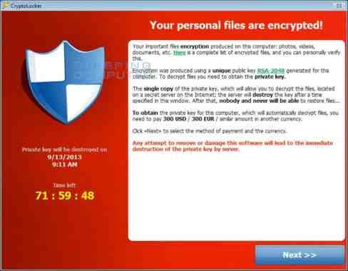 Cryptlocker soluzione recuperare file criptati