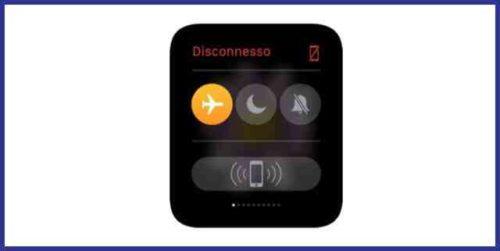 Apple Watch come attivare modalità uso in aereo