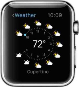 Apple Watch previsioni meteo in tempo reale