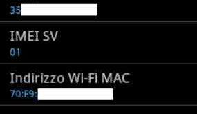 Galaxy S7 scoprire Indirizzo MAC