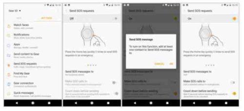 Screenshot Gear S3 come salvare la schermata