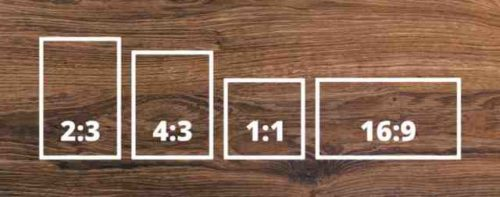 Come cambiare il formato delle fotografie da 43 a 169