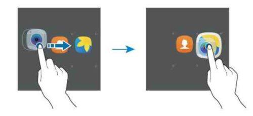 Creare cartella Galaxy S8 telefono Android