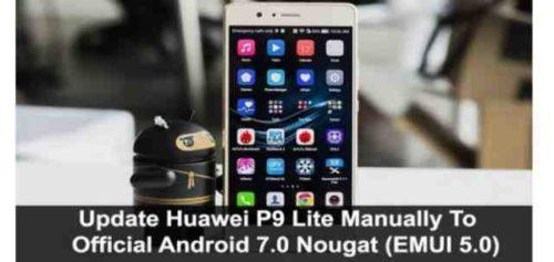 Huawei P9 Lite Android 7 aggiornamento Download