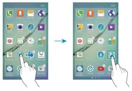 Galaxy S8 Aggiugere app nella home Samsung
