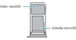 Come inserire scheda SIM su Galaxy S8