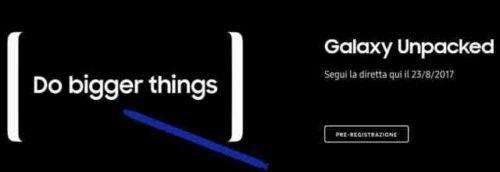 Video Diretta presentazione Note 8 Samsung
