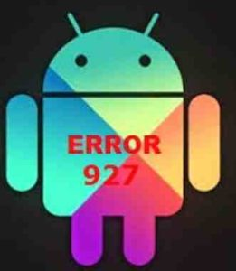 Galaxy S8 messaggio Errore 927 Google Play Store non risponde