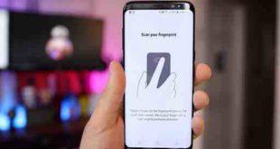 Samsung S8 Aprire barra notifiche con sensore impronte digitali