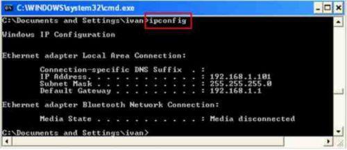 ip computer windows ipconfig