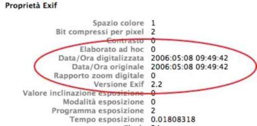 Galaxy S8 foto scoprire la data di scatto fotografia