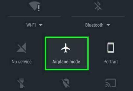 Huawei P10 icona aereo su barra di stato