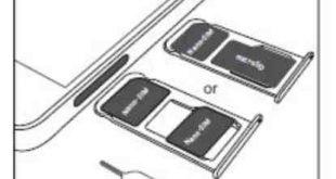 Come inserire scheda SIM e scheda memoria microSD Huawei P Smart