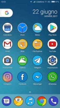 Spostare da una schermata all'altra del telefono Android Galaxy S9 le icone delle applicazioni. Come mettere in ordine le icone delle App dopo averle scaricate dal Google Play Store