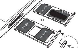 Mettere scheda SIM e Memoria SD nel Huawei P20