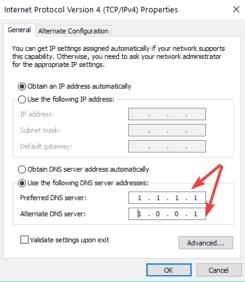 La guida per mettere DNS 1111 Cloudflare