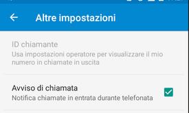 Le istruzioni per attivare o disattivare avviso di chiamata sul telefono Android Huawei P20