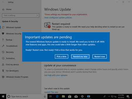 Aggiornamento Windows 10 1803 April 2018