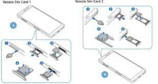 Istruzioni inserire scheda SIM nel telefono Galaxy A8 2018