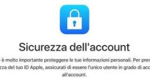 sostituire password account id iPhone