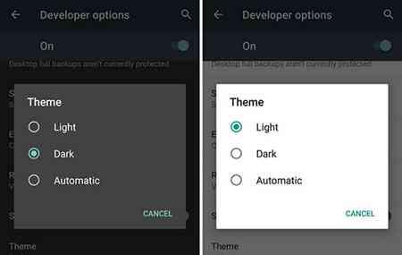 Dark mode Huawei P20 Pro