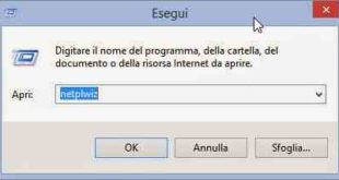 Eliminare password accesso Windows 10