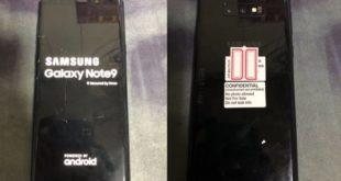 Fotografia reale Samsung Note9