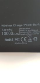 Wireless charger power bank 10.000 mAh