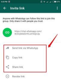 Whatsapp creare url invito gruppo whatsapp