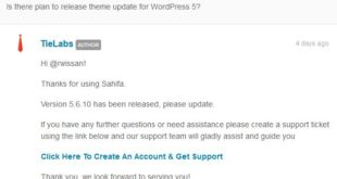Sahifa 5.6.10 wordpress 5