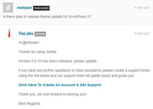 Sahifa 5.6.10 wordpress 5