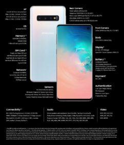 Caratteristiche tecniche Samsung Galaxy S10