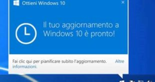 Aggiornamento windows 10 come si fa