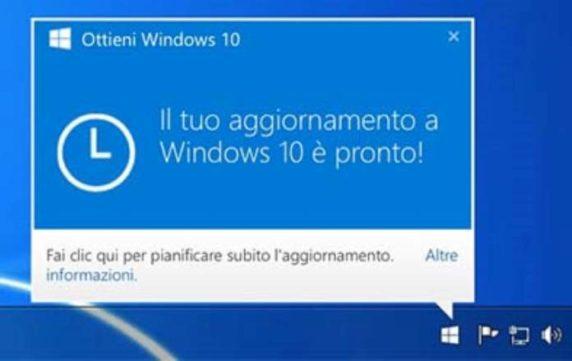 Aggiornamento windows 10 come si fa