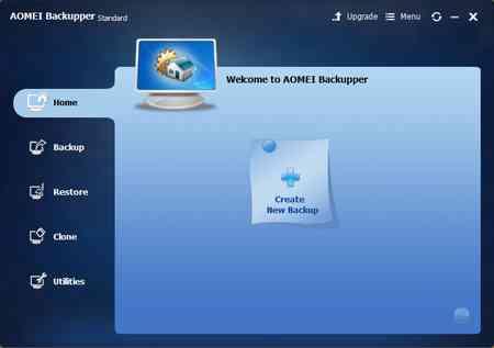 App gratis per fare backup AOMEI Backupper