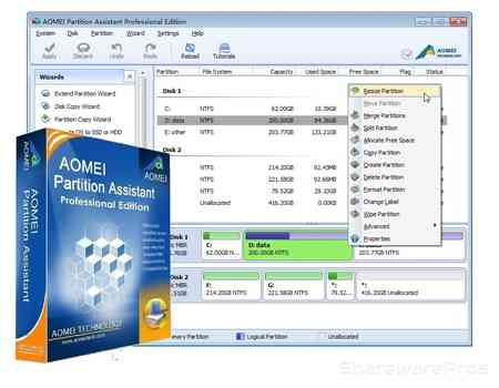 Download gratis AOMEI Partition Assistant