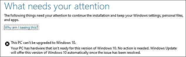 Bug aggiornamento Windows 10 maggio 2019