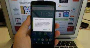 Modalita' provvisoria Samsung Android