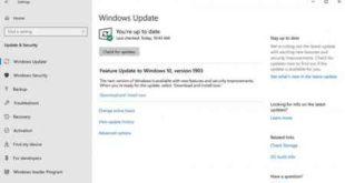 Aggiornamento Windows 10 maggio 2019