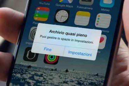 Memoria piena iPhone