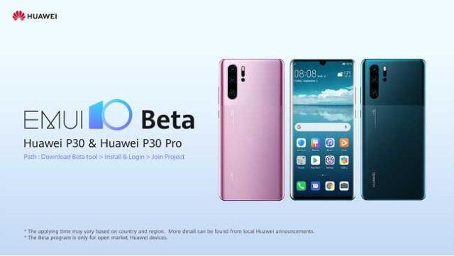 Aggiornamento Huawei P30 Android 10