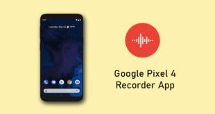 Google Pixel 4 Recorder