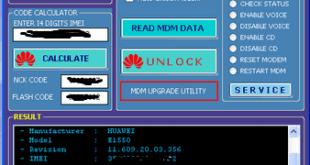 Huawei Modem Unlocker v5.8.1b