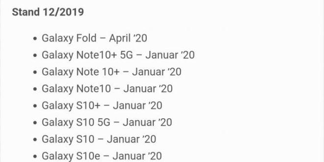 Samsung annuncia il programma di aggiornamento Android 10 dei suoi smartphone