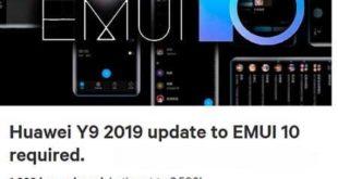 Huawei Y9 2019 EMUI 10