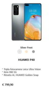 Huawei P40 scheda tecnica