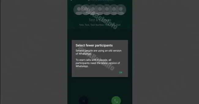 WhatsApp Le chiamate di gruppo ora supportano più di 4 persone