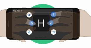 Google tastiera braille per smarthone dedicata a ciechi o con disabilità visive