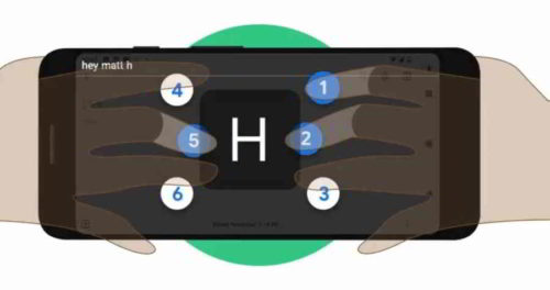 Google tastiera braille per smarthone dedicata a ciechi o con disabilit visive