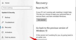 Disinstallare Aggiornamento Windows 10 Maggio 2020